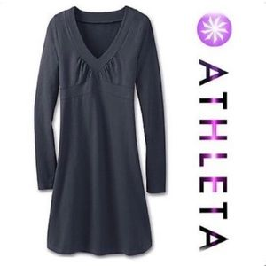 Athleta Senorita Long Sleeve Organic Cotton Dress